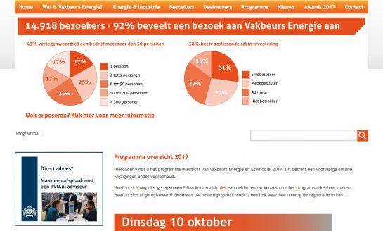 Vakbeurs Energie op 10, 11 & 12 oktober 2017 in de Brabanthallen in Den Bosch